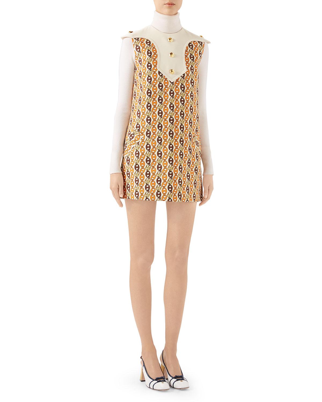 Gucci Dresses GG CHAIN CADY DRESS