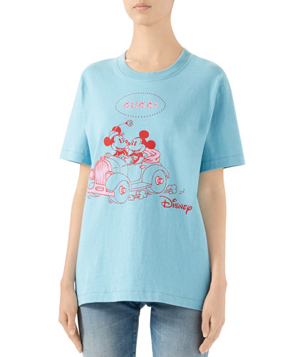 x Disney Minnie & Mickey Logo Graphic Tee