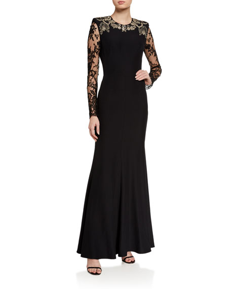 Alexander McQueen Embroidered Lace Gown