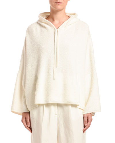 Cashmere-Cotton Terry Hooded Sweater