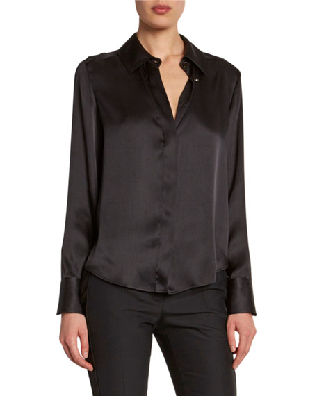 TOM FORD Heavy Silk Button-Front Shirt