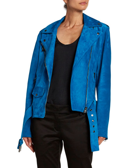 TOM FORD Suede Belted Biker Jacket