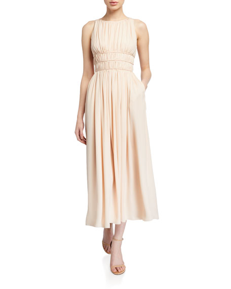 Emporio Armani Sleeveless Georgette Pleated Goddess Dress