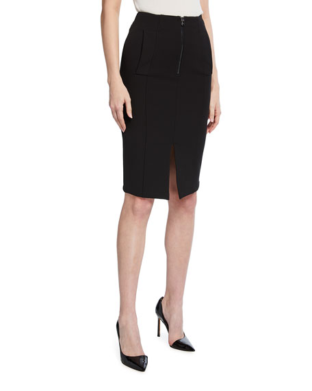 Emporio Armani Stretch Knit High-Waist Pencil Skirt