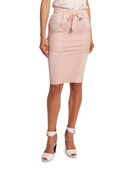 TOM FORD Drawstring-Waist A-Line Skirt