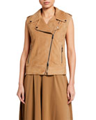 Brunello Cucinelli Suede Moto Vest and Matching Items