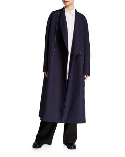 Celete Wool-Silk Wrap Coat