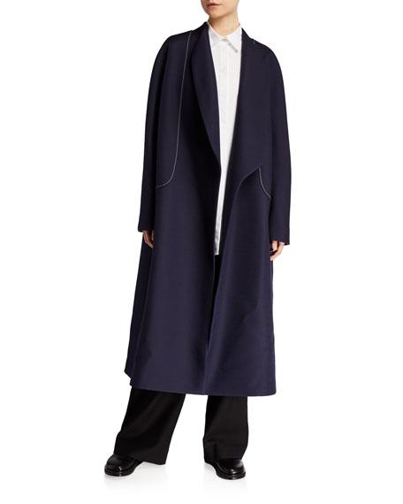 THE ROW Celete Wool-Silk Wrap Coat