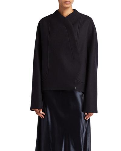 Morie Wool-Blend Wrap Jacket
