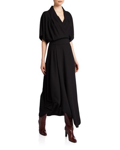 Talisa Wool Dolman-Sleeve Midi Dress