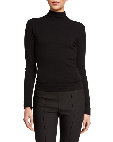 Agnona Cashmere Tubular-Finish Turtleneck Sweater