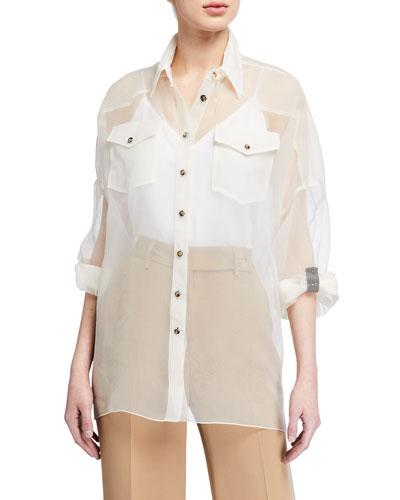 Organza Safari Shirt