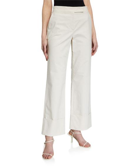 Maxmara Sidney Cotton Canvas Cuffed Pants