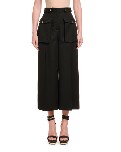Wool Cloth Military Culottes