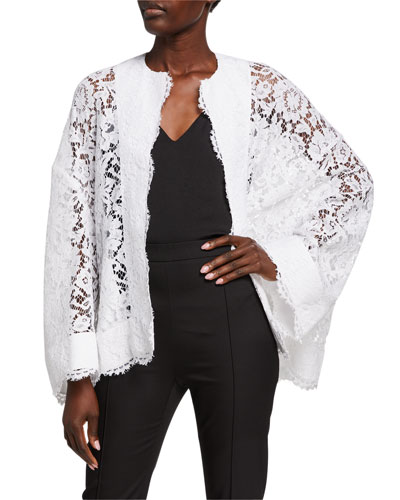 Lace Open-Front Jacket