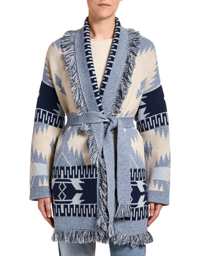 Icon Oversized Jacquard Cardigan