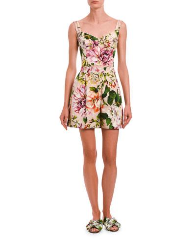 Floral Silk Bustier
