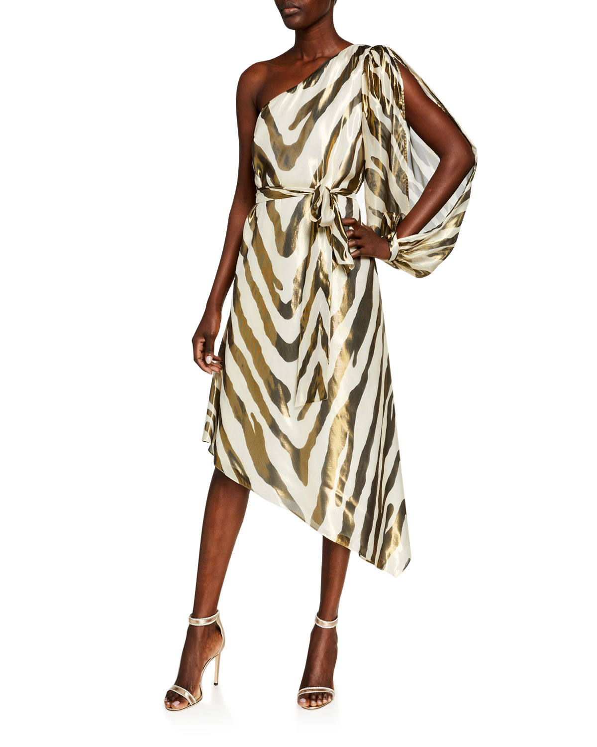Haney ANNIKA ZEBRA PRINT SILK DRESS