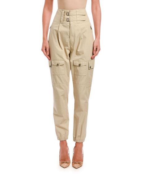 Dolce & Gabbana High-Rise Cotton Cargo Trousers