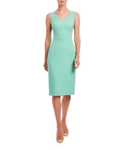 V-Neck Sleeveless Sheath Dress