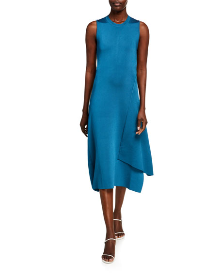 Victoria Beckham Silk Twisted-Back Dress