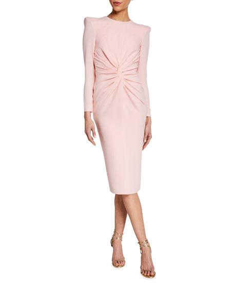 Alex Perry Dakota Crepe Long-Sleeve Dress
