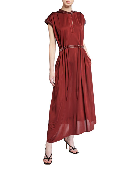 Sies Marjan Cap-Sleeve Jersey Midi Dress