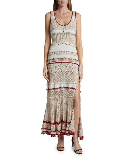 Altuzarra Crochet Striped Dress