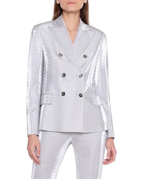 Akris Gloriana Metallic Jersey Jacket