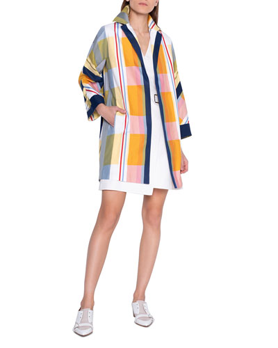 Plaid Duster Coat