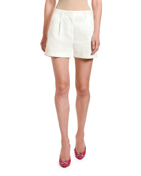 Off-White Cotton Formal Shorts