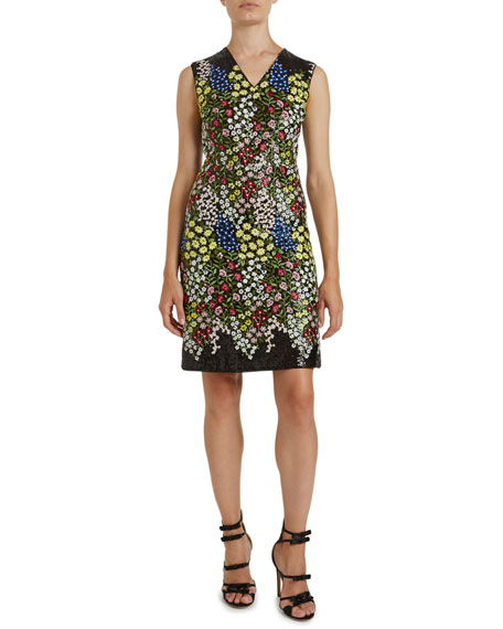 Giambattista Valli Sleeveless Multi-Print Dress