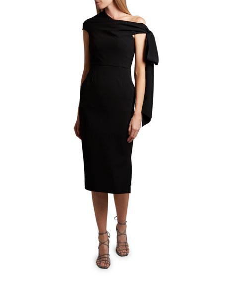 Roland Mouret Howe Asymmetric-Shoulder Midi Dress