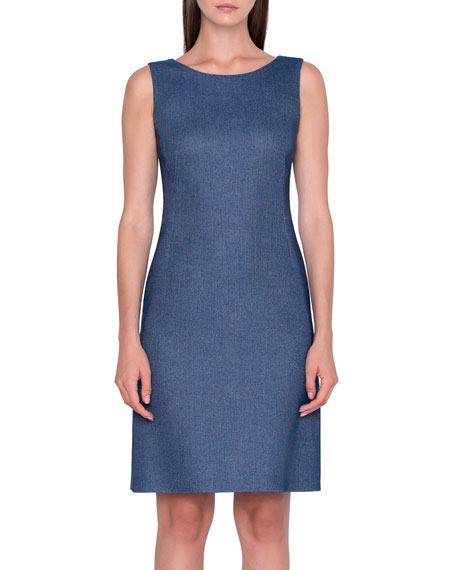 Akris Wool-Cotton Pique Dress