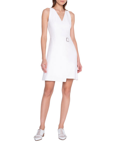 Akris Asymmetric Faux-Wrap Dress