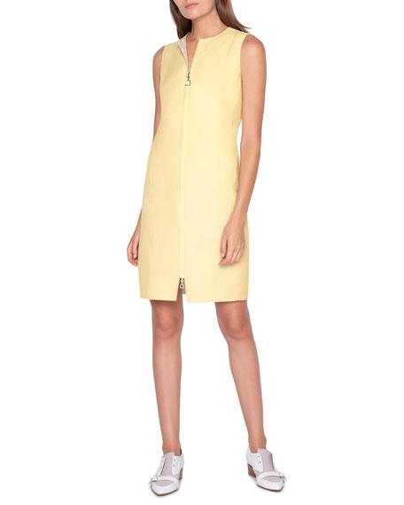 Akris Two-Tone Zip-Front Reversible Dress