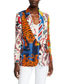 Libertine Prince of Chintz Twill Blazer and Matching
