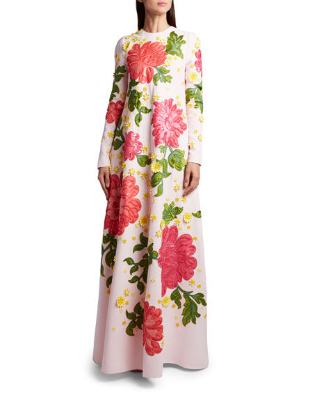 Andrew Gn Floral Applique Dress