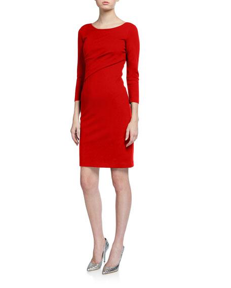 Emporio Armani Milano Jersey Faux Wrap Dress