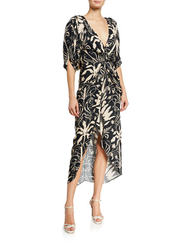 Modern Visionary Floral Print Wrap Dress