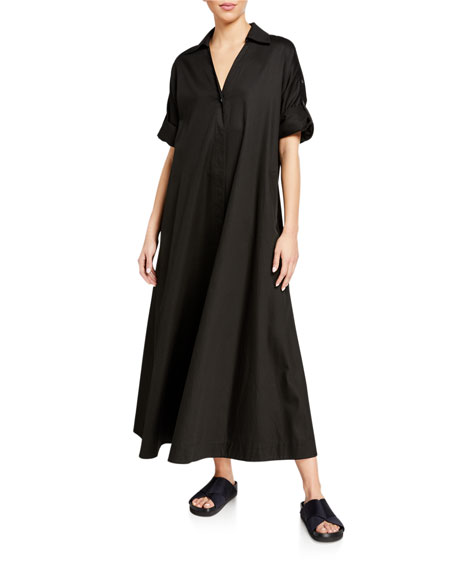 Co Collared Single Button Dress