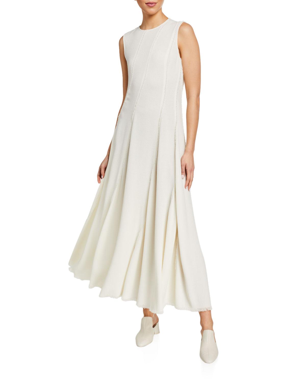 Co Dresses JEWEL-NECK SLEEVELESS DRESS WITH ASYMMETRIC SEAMS