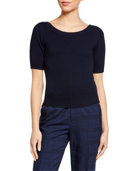 Co Cashmere 1/2-Sleeve Sweater