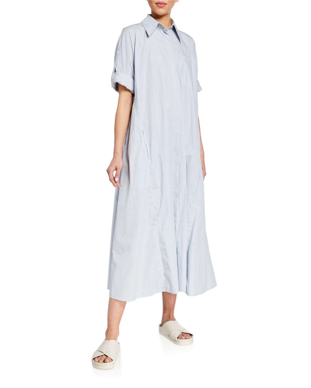 Co Dresses RUFFLED SHIRTDRESS