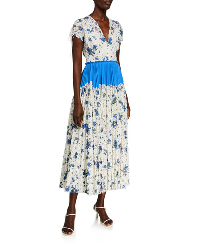 Floral Printed Corded Lace Dress