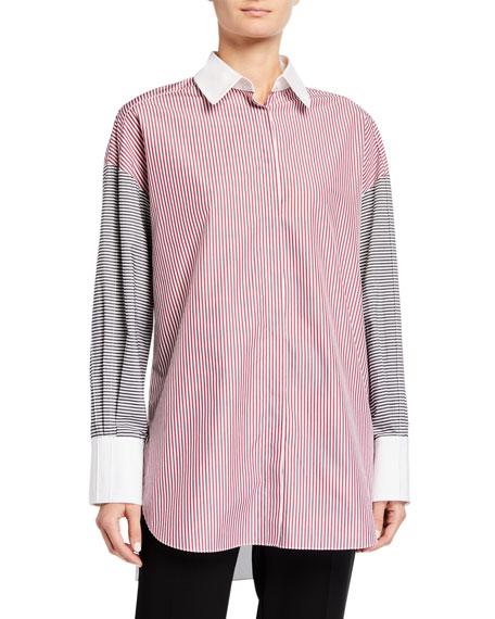 Partow Hugo Patchwork Poplin Shirt