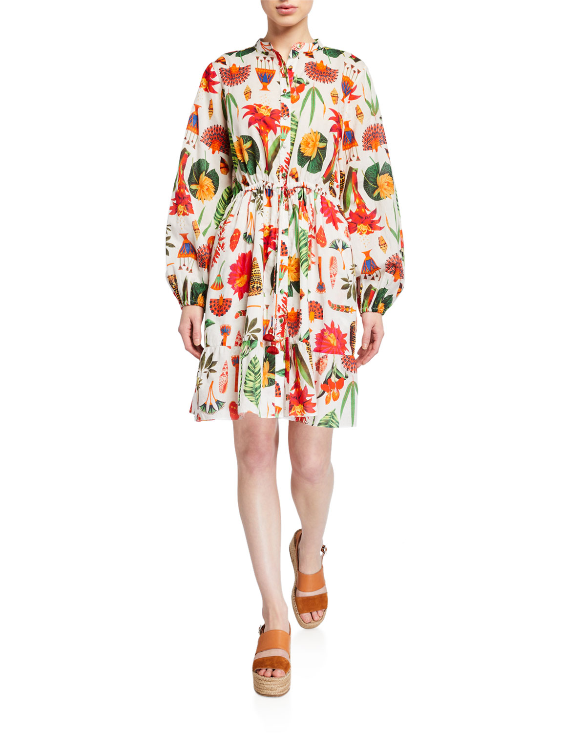 Figue Dresses SHAINA FLORAL PRINT SHIRTDRESS