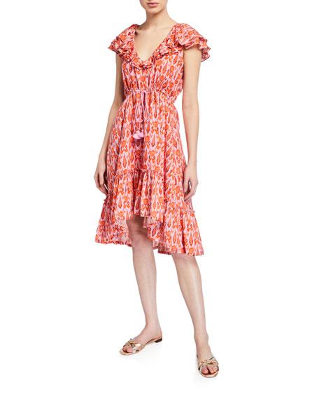Figue Tahlia Flutter-Sleeve Midi Dress