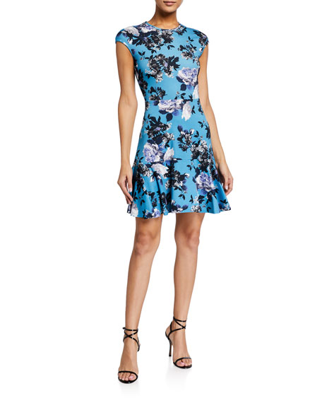 Erdem Darlina Cap-Sleeve Dress