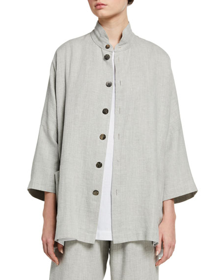 Eskandar Sloped Shoulder Jacket